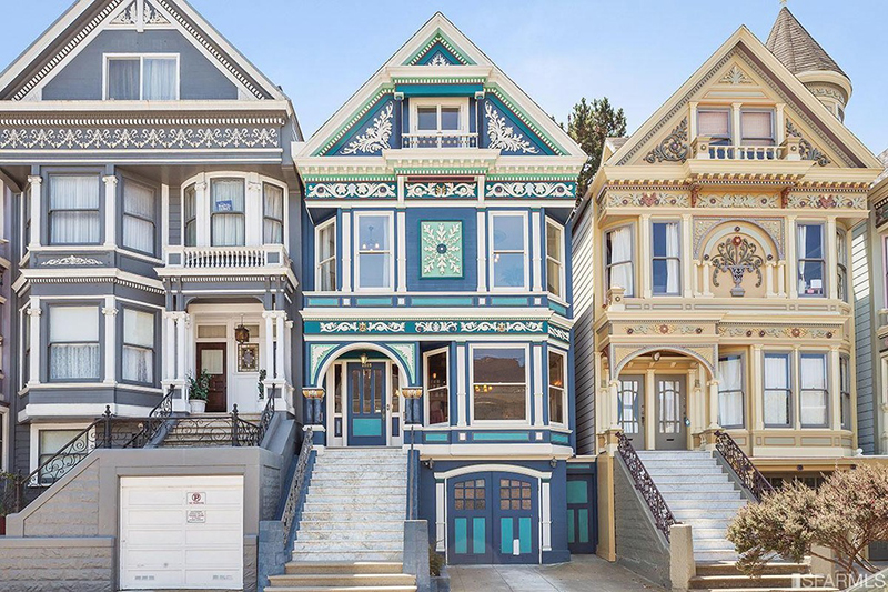 These Are Row Houses In San Francisco. No One Disputes As Far As I Know  That They Are Row Houses, Yet They Donu0027t Have Shared Walls Attaching Them  Together.