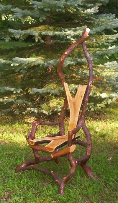 Mountain Laurel Frame, split branch for seat & back.