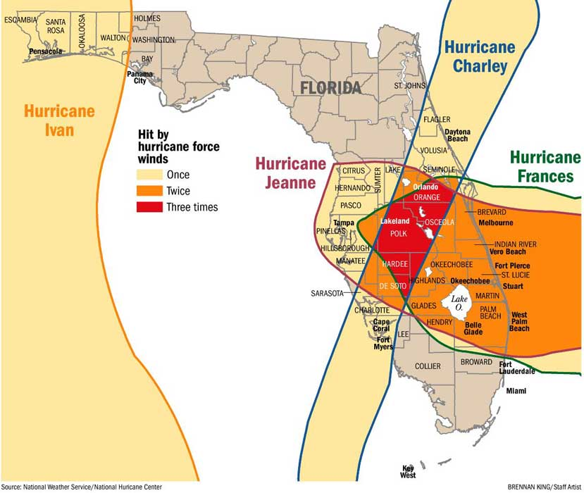 a brief history of the hurricane charley in florida