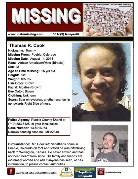 Pueblo Co News >> Man Missing In Pueblo Since Aug 14 2013 Family Needs Help Thomas