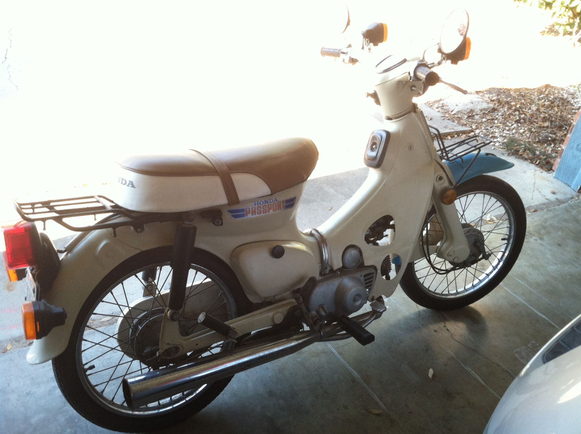 1981 Honda C70 Passport bought today! | Adventure Rider