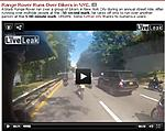 Bikers Surround Range Rover