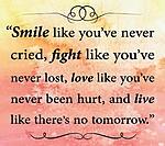 Smile Fight Love wallpaper 9701117