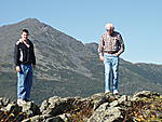 "My old man, ""of the mountain"", and my son Sept 2007.  Mount Washington"