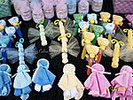 Washcloth baby dolls, butterflies, lollipops