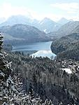 View from the top of hill that Neuschwanstein Castle sits on.