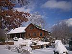 Log cabin in the foothills of the Appalachians