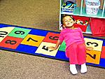 3-year old child, Olivia enjoys time at New Horizons School