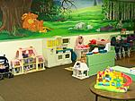Our Four Year old children have so much fun in their room while learning and preparing for kindergarden.  The artwork is an original painting of the...