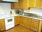 Very clean and spacious kitchen where the meals are prepared for the children.