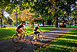 Bike riding in Allegheny Commons - Pittsburgh Northside.  See more Pittsburgh photos at: ...