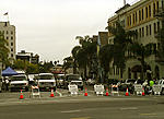 "Yucca Street - Set of TV show ""Battlestar"". They blew up a car."