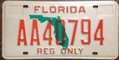 FLORIDA ---REGISTERED OUT OF STATE VEHICLE LICENSE PLATE