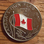 CANADA'S OWN FLAG CENTENNIAL MEDALLION 1967 a