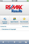 RE/Max Results Mobile Website