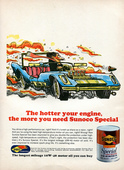 1971 Sunoco Motor Oil Advertising Road & Track June 1971