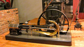 Model: Machine shop driven by steam