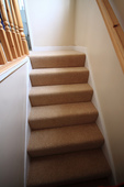 stairs carpeted at last