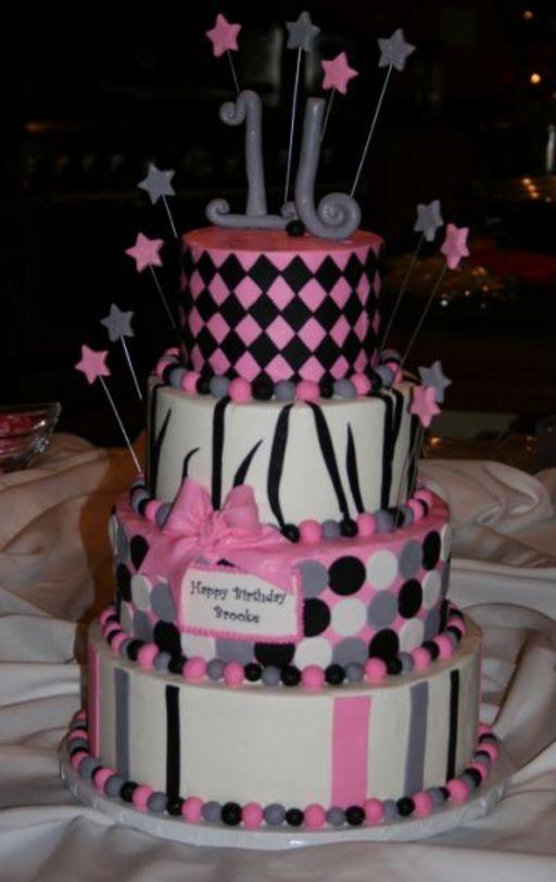 Pin Zebra And Ruffles Sweet 16 Cake By Susanamelia ...