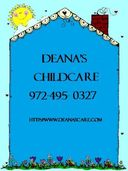 Deana's Childcare Richardson Sachse Wylie Texas