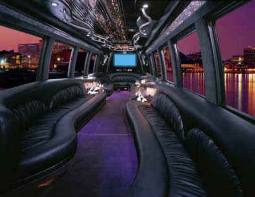 party bus. inside party bus