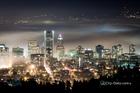 Portland in fog