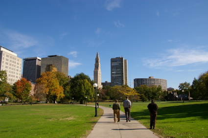 Bushnell Park, Hartford, CT - Hartford, Connecticut - Downtown Park  Provides Setting for Activities and Boasts Only Municipal Park Art Gallery  in All of State