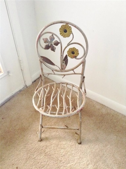 Child S Wrought Iron Folding Chair Image Jpg