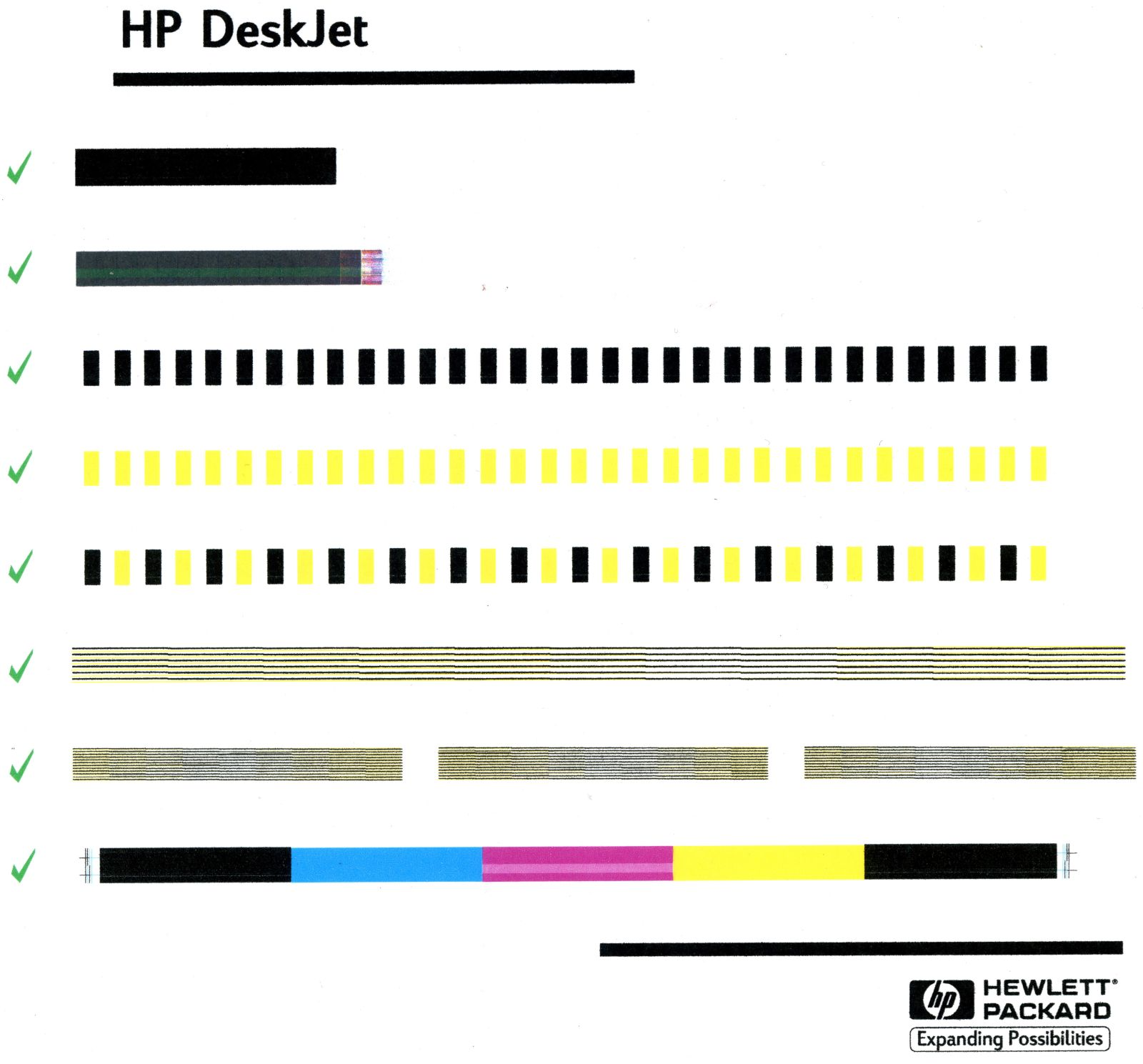Deskjet 1220c Printing A Test Page Every Time Computers Pcs Trend Hp Color