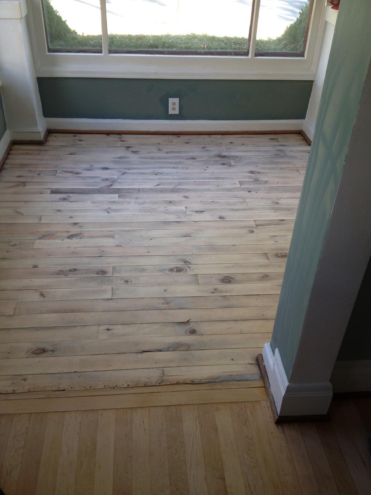 Refinishing painted pine floors thefloors co for Refinishing painted hardwood floors