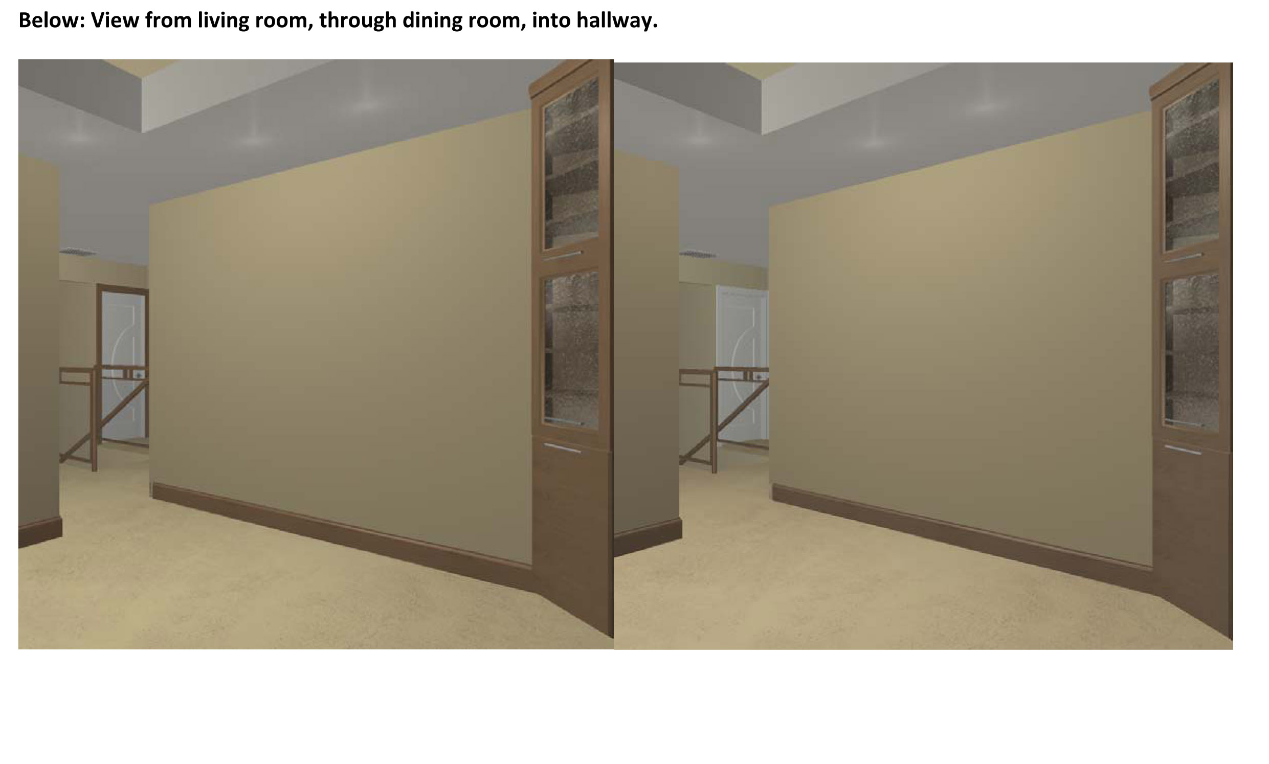 Stained Trim And Painted Doors Renderings Attached View Living