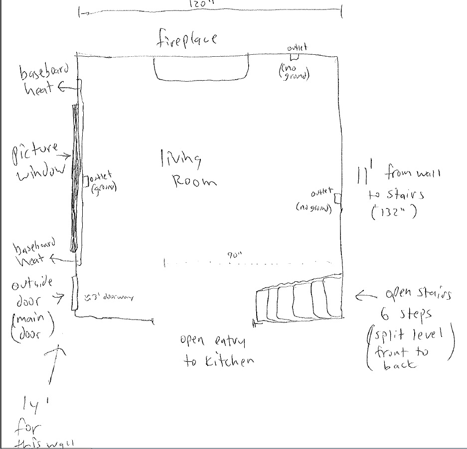 Need Help With Living Room Set Up  Mirror  Fireplace