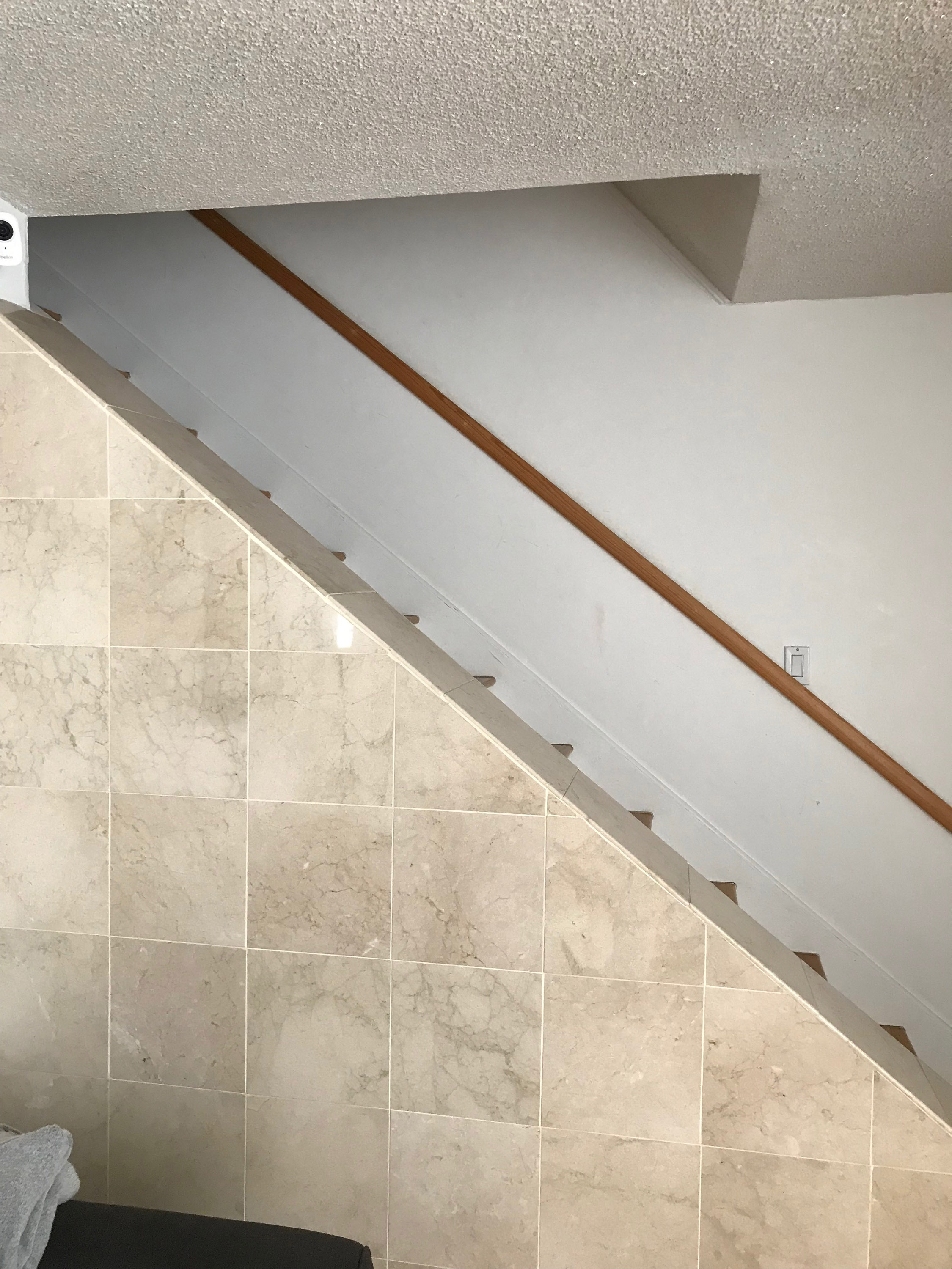 Stair railing ideas for this odd staircase (floor, ceiling ...