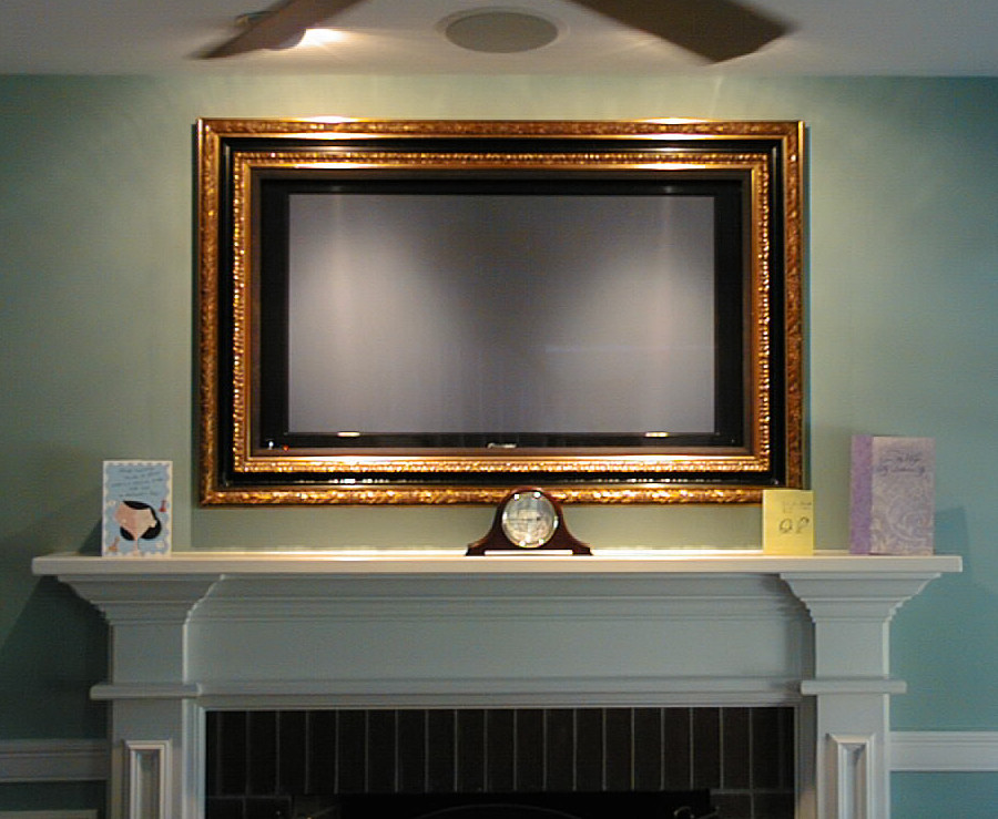 TV frame who has one? (pictures, room, moulding, cost ...
