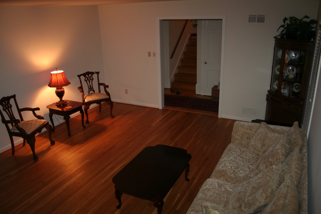 help decorating an oddly shaped room (fireplace, color ...