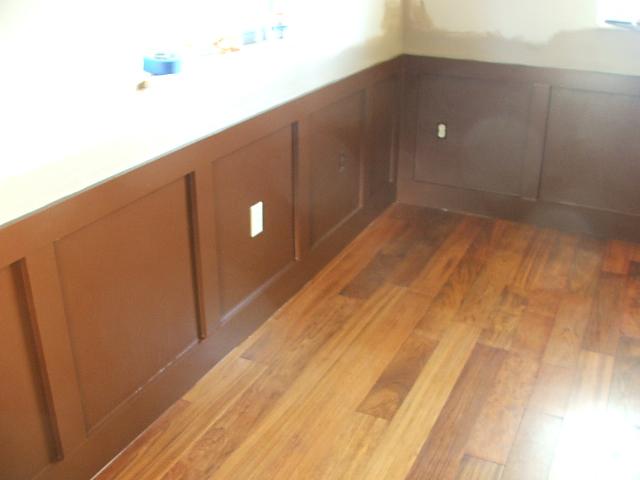 Converted bedroom into dining room (hardwood floor, tile ...