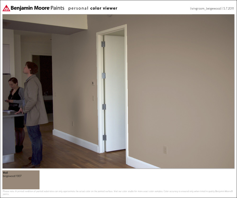 What Color Would You Go With Wall In Condo Livingroom Beigewood