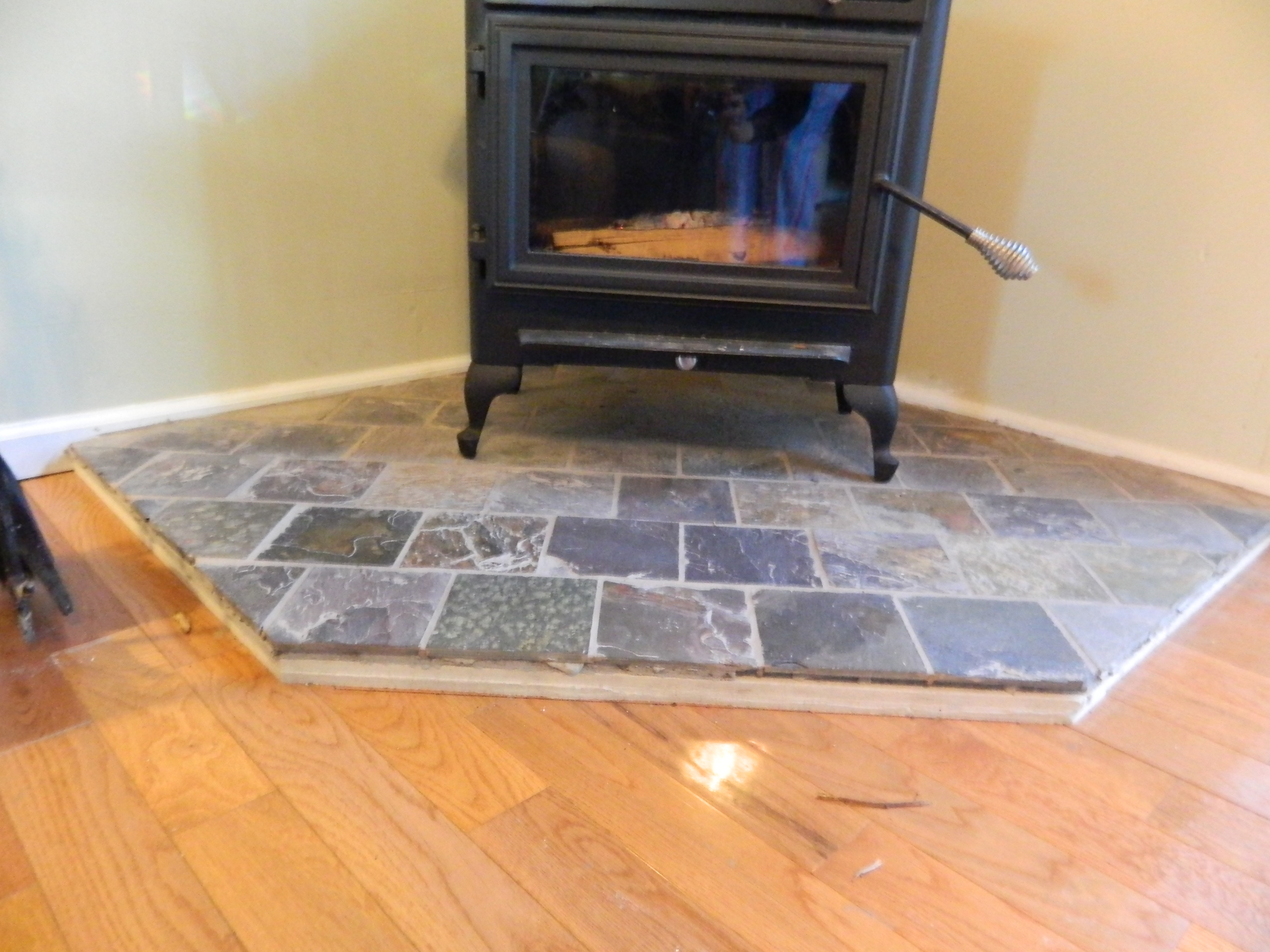wood stove floor protection