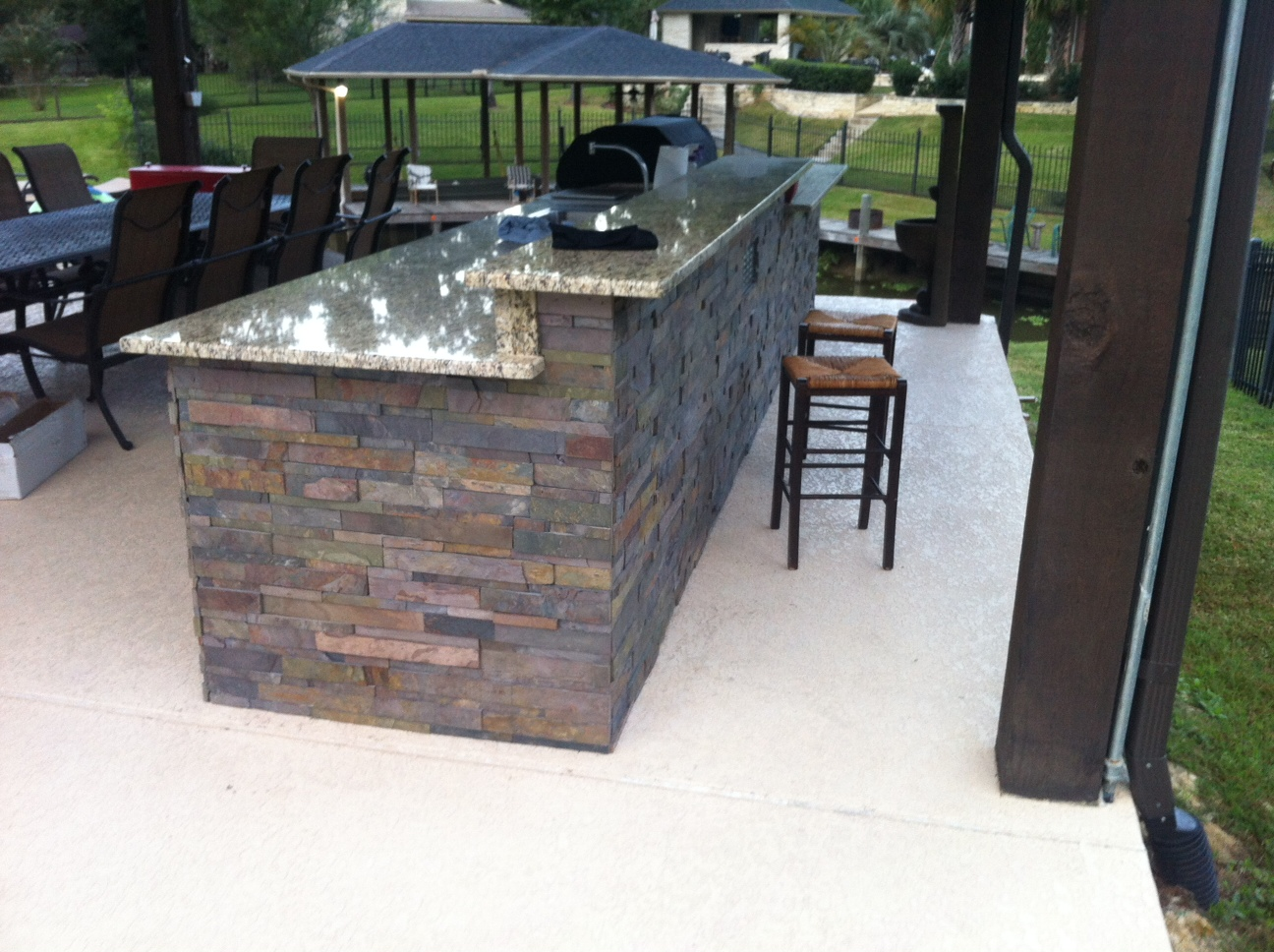 Just about done with my outdoor kitchen (DIY) (granite ... on Patio Kitchen Diy id=81392