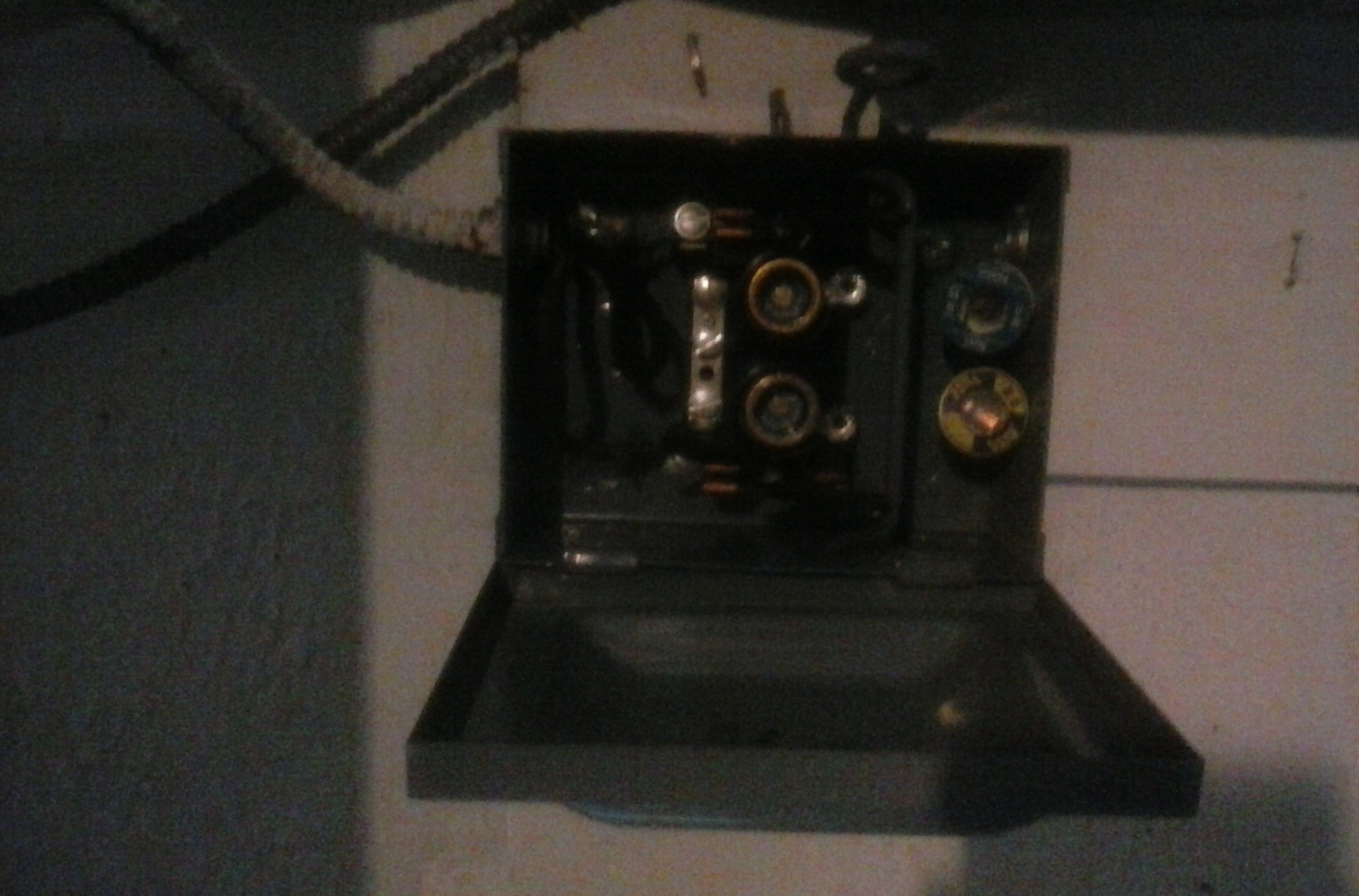 Strange Wiring In House Water Heater Phones Install Lights Old Small Fuse Box