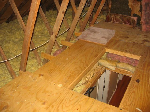 Attic Floor Roof Plank Ceiling House Remodeling