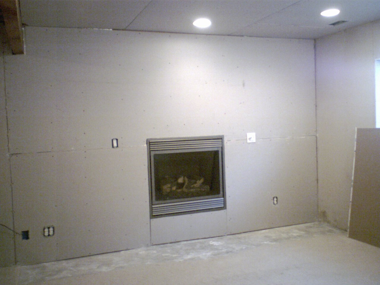 Issues With Installing Tiles Around A Fireplace Drywall 110808 Jpg
