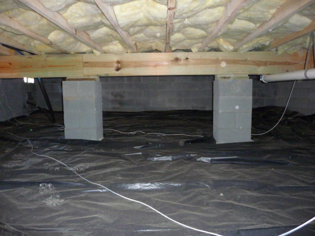 Pier and beam floor insulation meze blog for Foundation piers