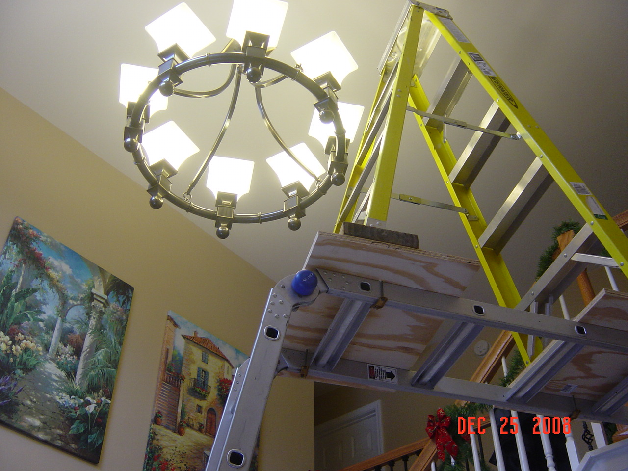 Replacing Chandelier Entry Is 2 Stories Tall Dsc01823 Jpg
