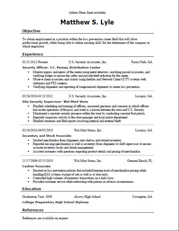 rate my resume and give feedback  employee  applying