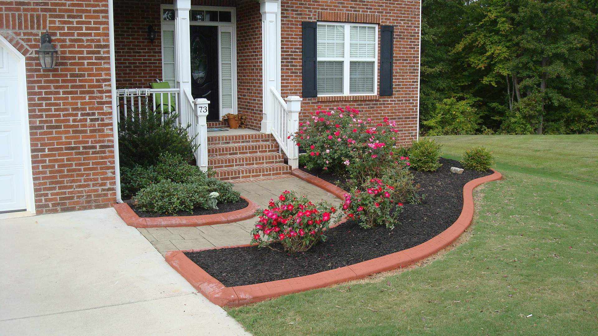 Poured Concrete Landscape Edging Floors Vs Garage Raleigh Material Costs