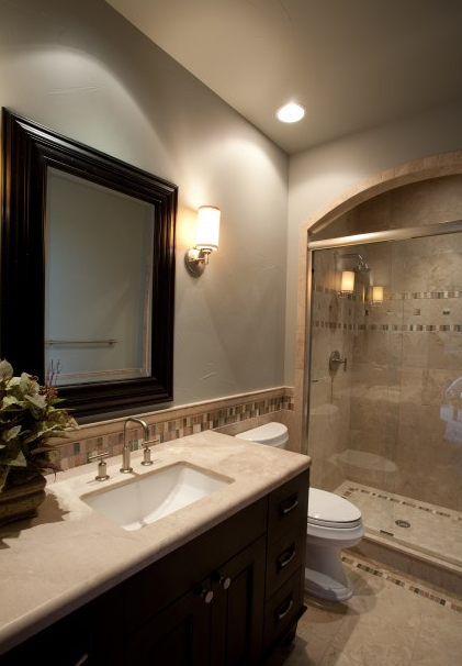 Shower Tub Combo In The Master Bath